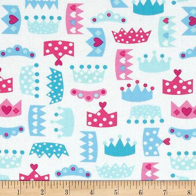 Princess Life by Ann Kelle of RK Fabrics Crown - Snow SFCROWNSNO