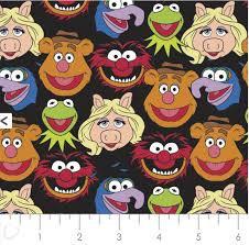 Muppets Cast - Camelot Fabrics - Black 85320101-02