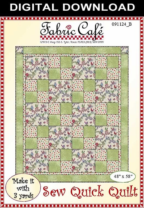 Fabric Cafe Pattern - Sew Quick Quilt - 091124