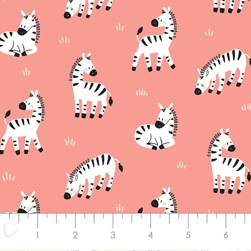Peek-A-Boo Hanging Around by Camelot Fabrics - Coral
