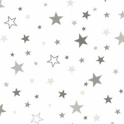 Cozy Cotton Flannel - Pepper 15593-188 (Grey Stars on White)