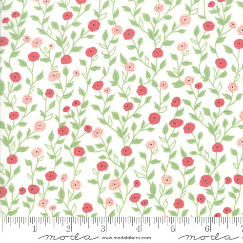 Bloomington by Lella Boutique for Moda - Sm Flowers - Eggshell 5112-11