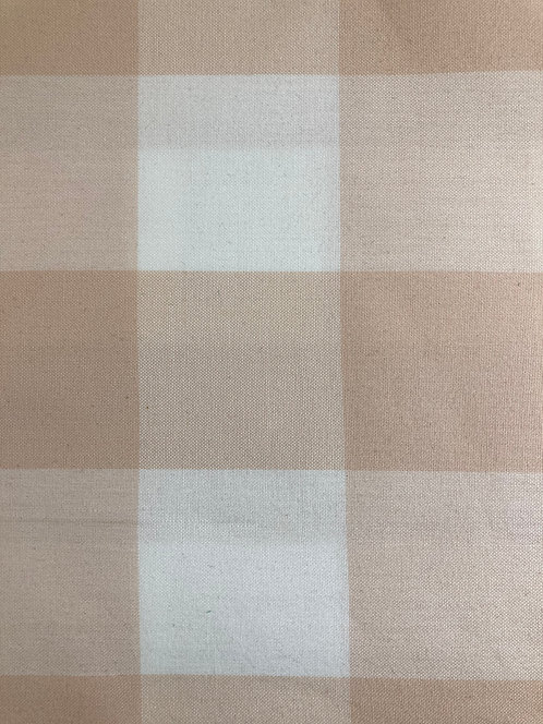 Kitchen Window Wovens - Large Check - Lingerie(Length=2m)