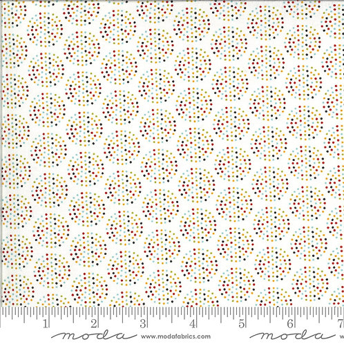 Animal Crackers by Sweetwater for Moda - Dots on Vanilla Multi 5806-25