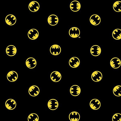 Batman Logo on Black - Camelot Fabrics - 23400704-05 Black