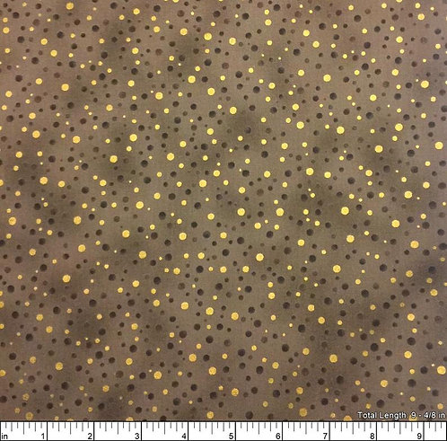 Christmas Wonders by Stof - Walnut/Gold Dots  - 4596-307