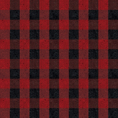 Buffalo Check in Black Red - RBC635 RED