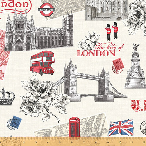 The City of London by Windham Fabrics - Ivory 52343-1
