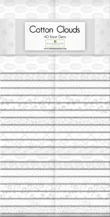"""40 Karat Essentials Gems 40pc - Cotton Clouds 2.5"""" Strips x 40 pc"""
