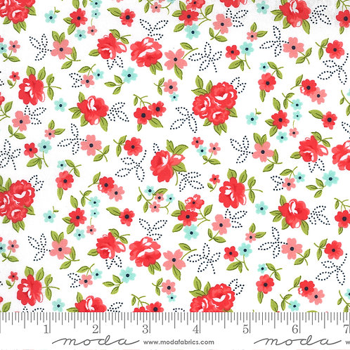 Sunday Stroll - Bonnie Camille for Moda - Red on White 55222-21
