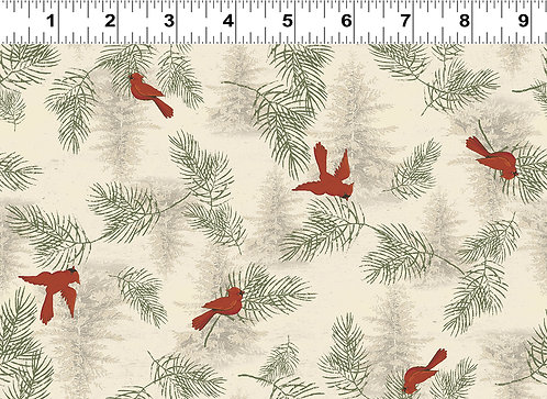 Let Nature Sing by Clothworks - Light Khaki Y2984-11