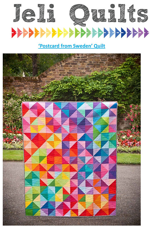 """Postcards from Sweden Quilt KIT (60"""" x 75"""") Binding not included"""