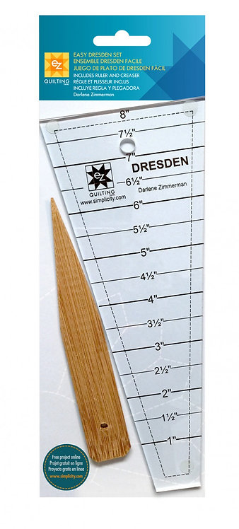 Easy Dresden Ruler and Creaser Set - EZ Quilting