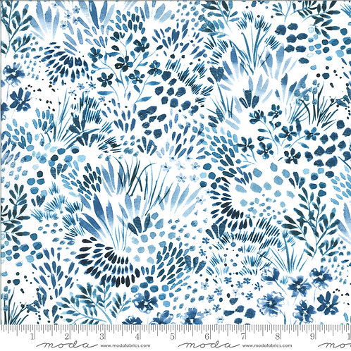 Moody Bloom by Create Joy Project for Moda - Indigo 58444D-14