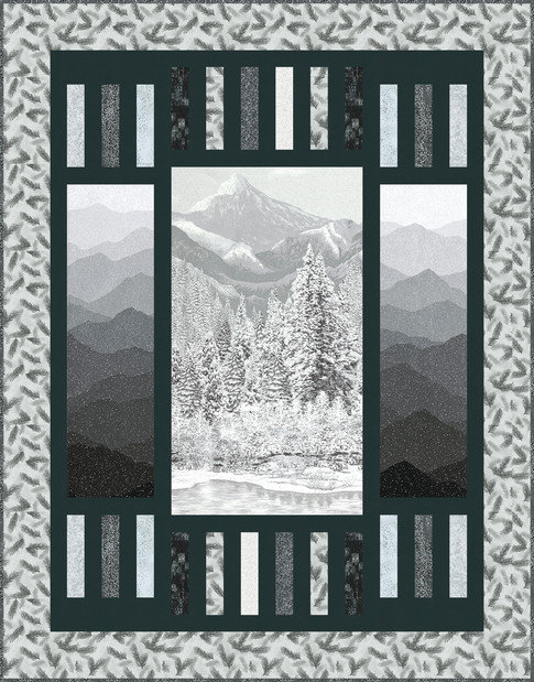 """Trifecta Quilt Kit - 61.7"""" x 77.5"""" (Binding included)"""