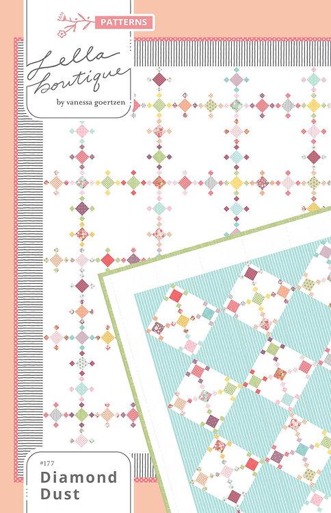 """Diamond Dust Quilt Pattern by Lella Boutique - 75"""" x 75"""" LB177"""