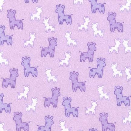 Cozy Cotton Flannel - Giraffes - Lavender