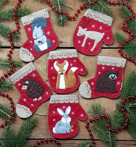 Christmas Critters Ornament Kit by Rachel's of Greenfield