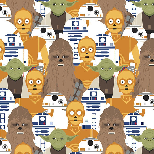 Star Wars - Stacked Portraits - Camelot Fabrics - 73011104-01 Multi