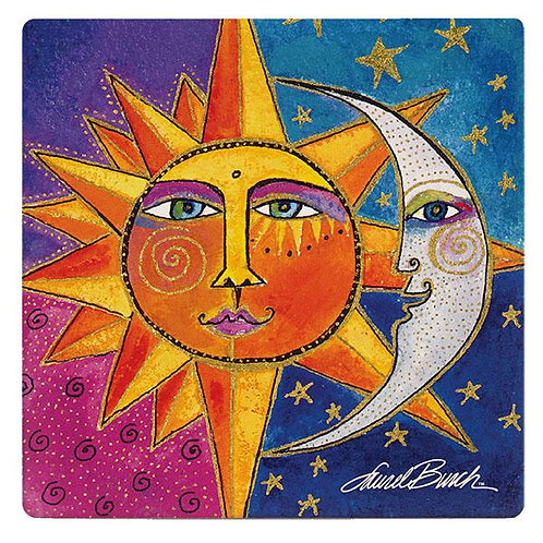 Laurel Burch Coasters by Monarque - Sister Sun Brother Moon