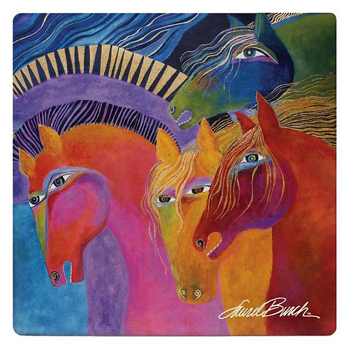 Laurel Burch Coasters by Monarque - Horses of Fire