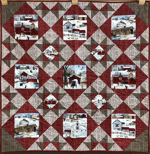 """Winter In The Country Quilt - 50.5 x 50.5"""""""