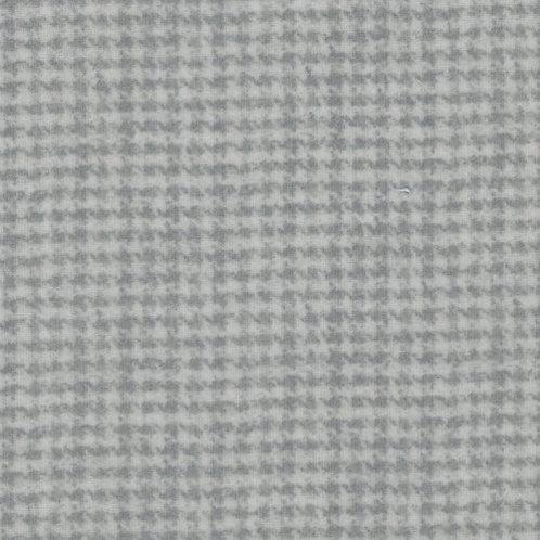 Woolies Flannel - Houndstooth - Grey