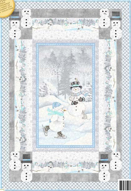 "Snow Valley Quilt Kit - 50"" x 74.5"" (binding included)"
