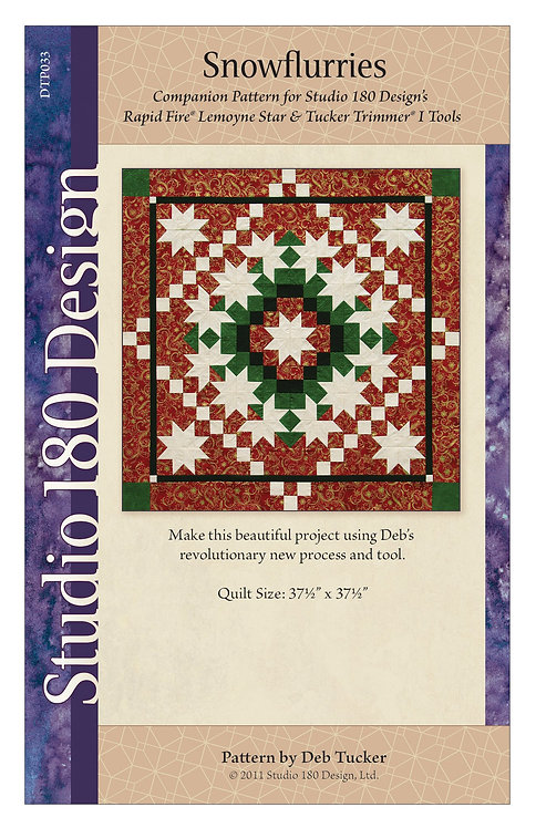 "Snowflurries Wall Hanging Quilt Pattern 37.5"" x 37.5"""
