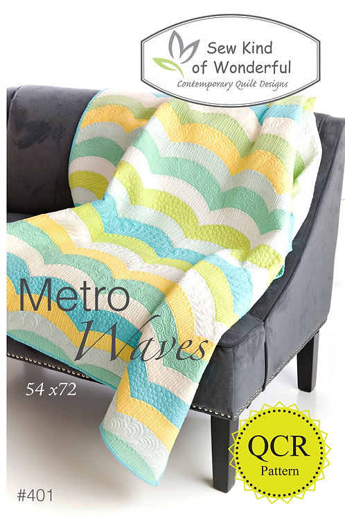 "Metro Wave Quilt Pattern - 54"" x 72"""