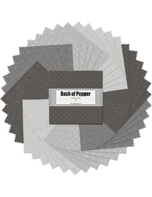 "5 Karat Essentials Gems by Wilmington - Dash of Pepper 5"" Squares x 40 pc"