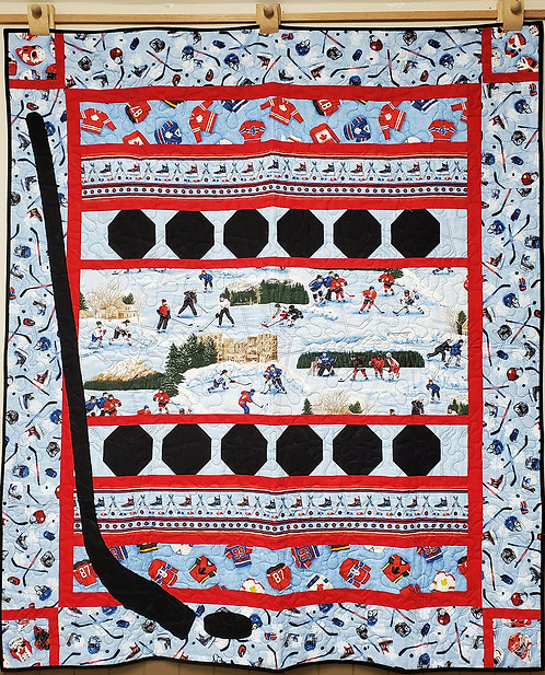 """Power Play Quilt 54"""" x 74.5"""""""