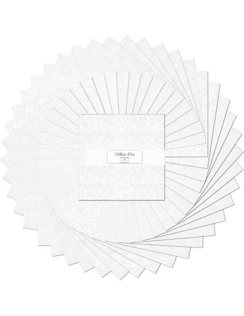"10 Karat Essentials Gems by Wilmington - White Out 10"" Squares x 40 pc"