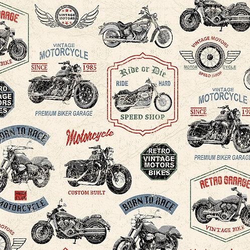 Born to Ride by Windham Fabrics - 52240 1-Cream