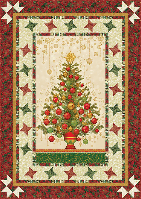 """Dazzling Tree Quilt Kit - 45"""" x 64"""" - Binding Included"""