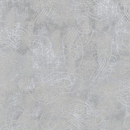 Winter's Grandeur 8 Metallic - Robert Kaufman - Silver 19330-186