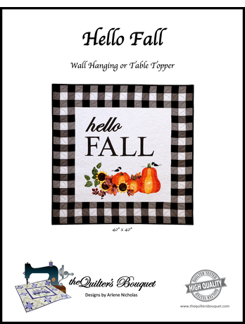 "Hello Fall Wall Hanging Quilt Pattern - 40""x40"""