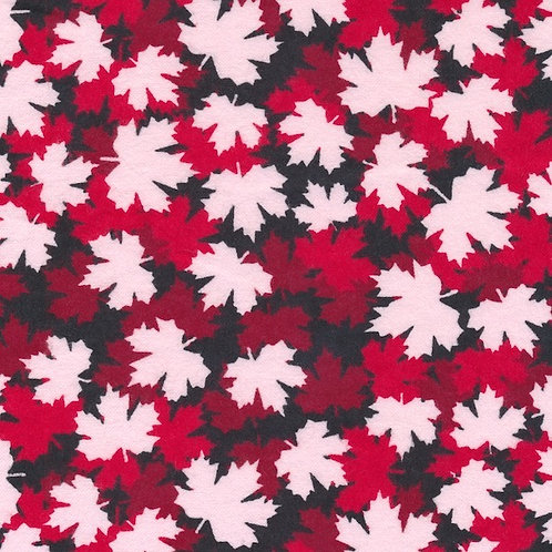 Maple Leaf Flannel - Red/Wht
