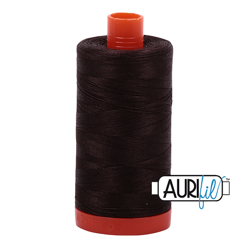 Aurifil Large Spool - 1130 - Very Dark Bark