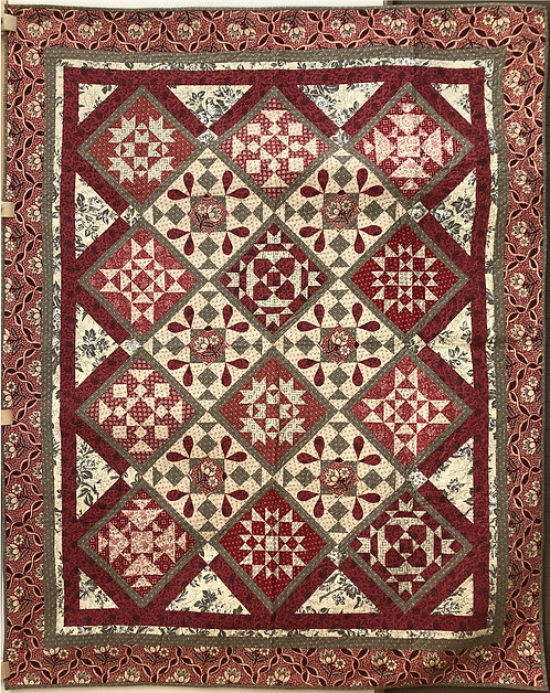 """French Elegance Quilt - 69.5"""" x 85"""""""
