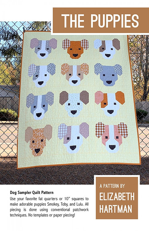 Puppies Quilt Pattern by Elizabeth Hartman
