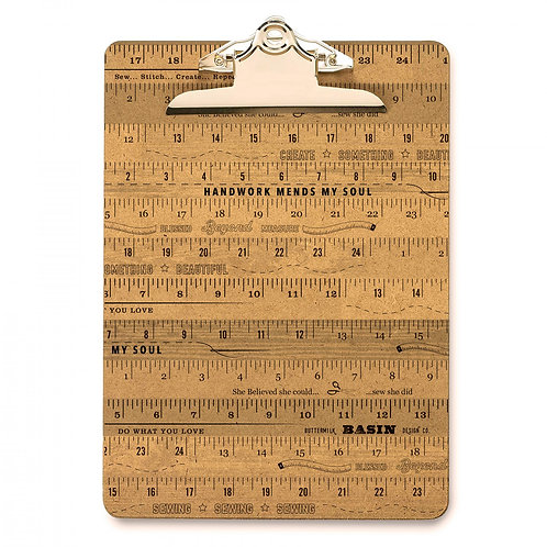 """Ruler Clip Board by Stacy West - 9"""" x 12.5"""""""