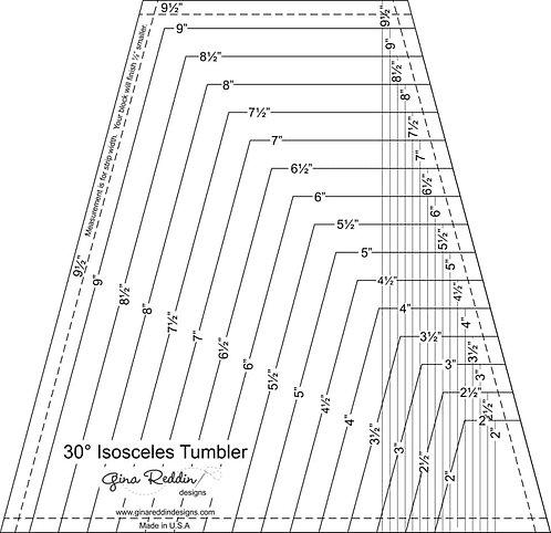 30 Degree Tumbler Ruler - Gina Reddin Designs