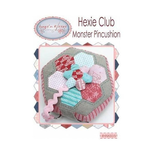 Hexie Club Monster Pincushion Pattern by Hugs'n Kisses (includes hexies)