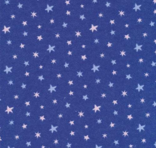Stars on Flannel - Blue