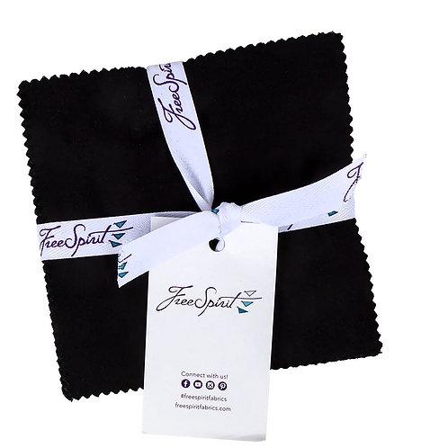 Designer Essentials Solids - Freespirit Charms - Black - FB6CPDE-BLACK
