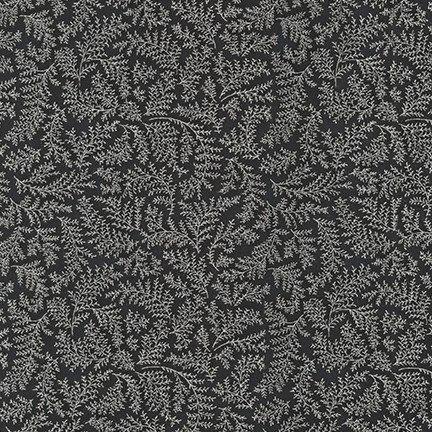 Holiday Flourish Metallic 12 by R. Kaufman - Black Sprigs - 18343-189
