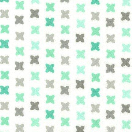 Cozy Cotton Flannel - Cross Mint