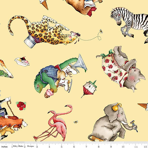 Hungry Animal Alphabet by Riley Blake - Yellow C10182
