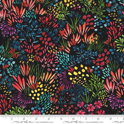 Moody Bloom by Create Joy Project for Moda - Black Multi 58444D-12